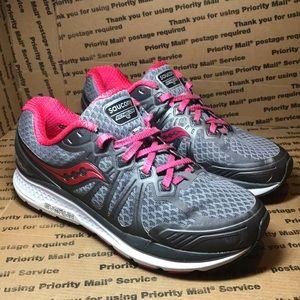 Saucony Echelon 6 Grey / Pink Running Shoe